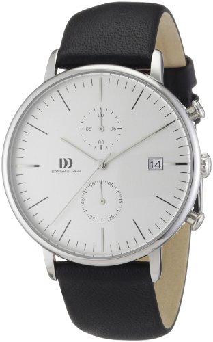 Danish Design Herren-Armbanduhr XL Analog Quarz Leder 3314400