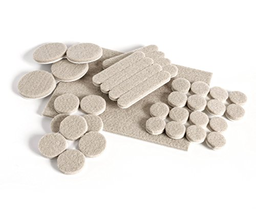 Slipstick CB071 Self Stick Furniture Felt Pads (37 Piece Variety Pack) Heavy Duty Adhesive Surface Protectors