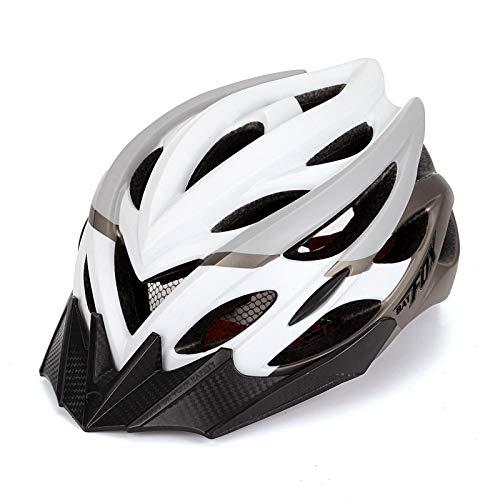 Welltobuy Casco da bici da ciclismo confortevole traspirante regolabile ultra leggero casco con visiera staccabile per BMX Skateboard MTB Mountain Road Bike