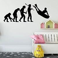 楽しい進化サーフアートステッカー子供部屋子供部屋の装飾家の装飾防水ウォールステッカー30cmX75cm