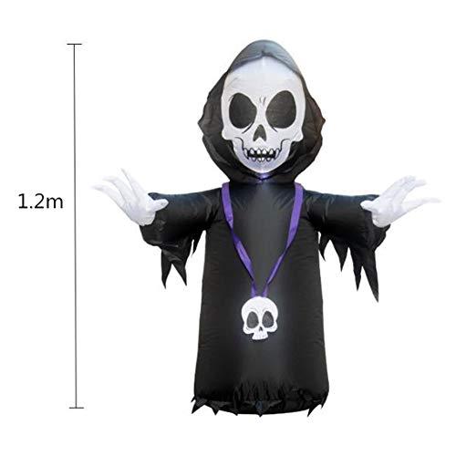 DishyKooker 1.2m aufblasbare Geist-Modellierungsstützen für Garten-Mall-Hotel-Halloween-Geist-Festival-Dekoration im Freien US-Vorschriften Haushalt