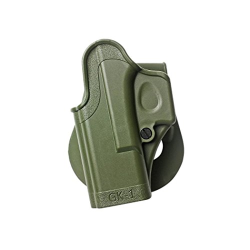 IMI GK1 POLYMER ONE PIECE MOLDED HOLSTER LEFT HAND MODELS FOR GLOCK OD