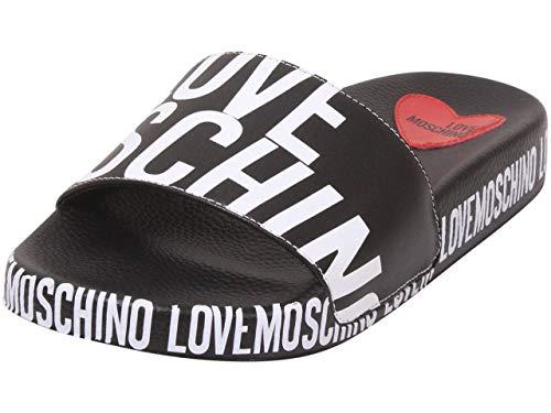 Love Moschino Damen SS21 Sandale, Schwarz, 39 EU