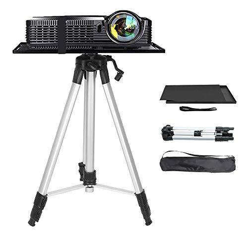 Moutik Beamer Stativ Aluminum Projektor Ständer 53-136cm Höhenverstellbar Bodenständer für Laptop Notebook und Projektor mit Tasche