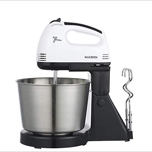 Stand Mixer, 100W 7-Speed Electric Mixer, Tilt-Head Food Mixer With Beaters & Dough Hook, 2QT...