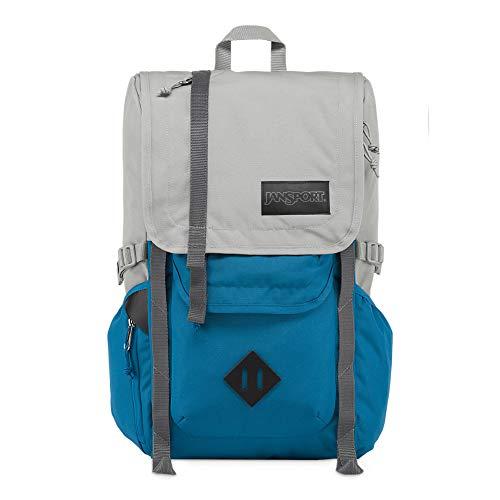 JanSport Hatchet Travel Backpack - Laptop Bag Designed for Urban Exploration | Sleet/Blue Jay