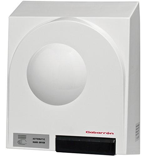 Gabarrón - Secamanos eléctrico SM de instalación Vertical. Secador de Manos 1800W en Blanco. Funcionamiento automático.