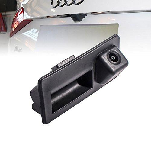 Wasserdicht Fahrzeug-spezifische Griffleiste Kamera integriert in Koffergriff Rückansicht Rückfahrkamera für SKODA Octavia MK3 A7 5E/VW Caddy MK3 2K/A4L VW Touran L/Tiguan L/Teramont/C-TREK 2016-2018
