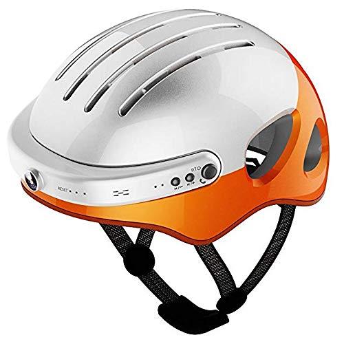 HBRT Casco de Ciclismo con cámara Deportiva, música Inteligente con Bluetooth, Casco...