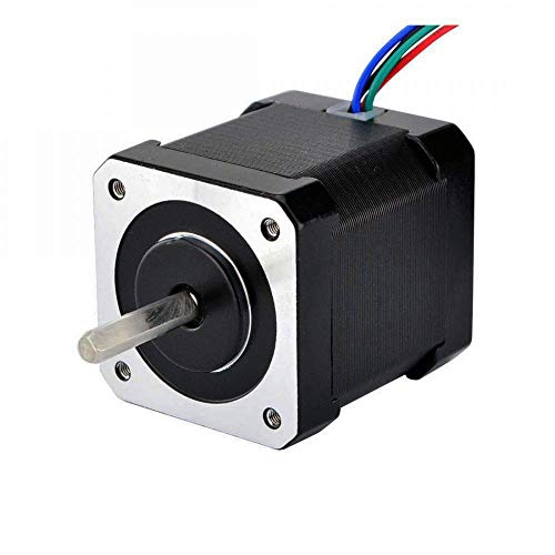 STEPPERONLINE Schrittmotor Nema 17 Volle D-Cut-Welle Stepper Motor 59Ncm 2A 1.8 Grad 48mm 4-Draht w/1m Kabel & Verbinder für 3D Drucker/CNC Reprap