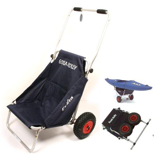 Ascan Eckla Beach Rolly, Surf Carro Transporte Respaldo Asiento Barco Carro Carro para Canoa o Angel Carro
