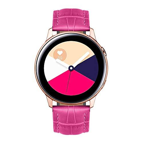 BINLUN Bandas de Reloj Compatibles con Samsung Galaxy Watch 42mm Active 2 20mm Correas de Cuero Genuino Reemplazo Pulsera para Hombres