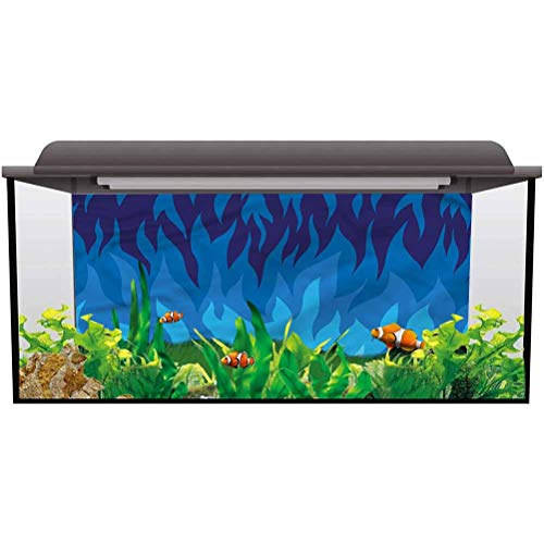 ScottDecor Aquarium Wallpaper Background Trippy,Abstract Gas Flame Fire PVC Adhesive L36 X H24 Inch
