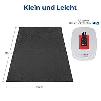 Siegvoll Mini couverture de pique-nique ultra légère portable pour la plage, le pique-nique, le camping et la randonnée 70 x 110 cm