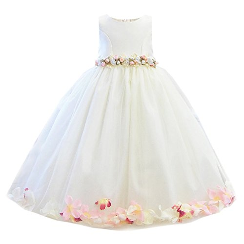 子供ドレス カレン キッズ ジュニア 女の子 [リトルプリンセス] Little Princess アイボリー×ピンク 130cm
