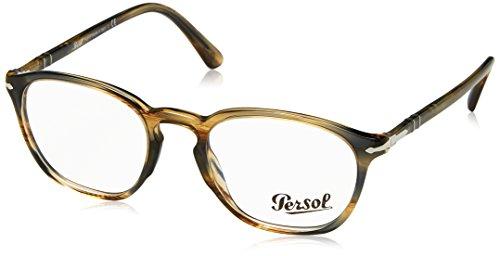 Persol 0PO3178V Occhiali, Marrón (Striped Brown Grey), 50 Uomo