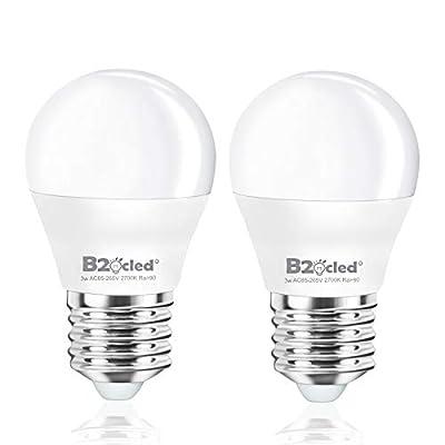 B2ocled LED Light Bulb,3W?25 Watt Equivalent? A15 Lamp Warm White 2700K Non-Dimmable, E26/E27 Base for Home Lighting Decorative, CRI90+, 240-Lumen, 2-Pack