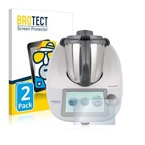 BROTECT 2X Entspiegelungs-Schutzfolie kompatibel mit Vorwerk Thermomix TM6 Displayschutz-Folie Matt, Anti-Reflex, Anti-Fingerprint