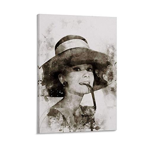 Audrey Hepburn - Lienzo decorativo para pared (61 x 40,6