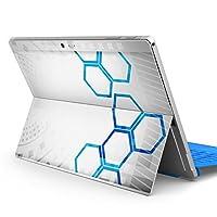 igsticker Surface pro7 (2019) pro6 pro2017 pro4 専用 スキンシール サーフェス ノートブック ノートパソコン カバー ケース フィルム ステッカー アクセサリー 保護 007978 クール デザイン 灰色 グレー 青 ブルー