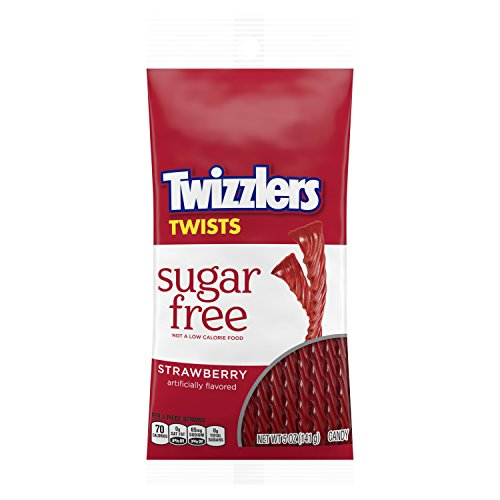 TWIZZLERS Strawberry Licorice Sugar Free Candy, 5 Oz, Bag, (12 Count)