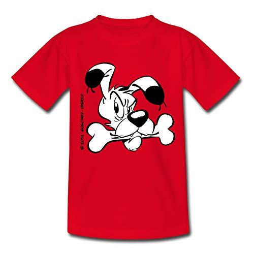 Asterix & Obelix - Idefix Mit Knochen Kinder T-Shirt, 110-116, Rot