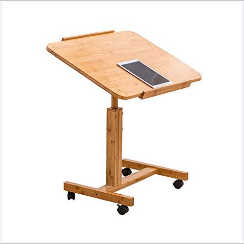 QULONG Home Computer Schreibtisch Bett Schreibtisch faul Tisch mit Roller abnehmbare Sofa Beistelltisch Ecke mehrere kleine quadratische Tabelle,60x40cm