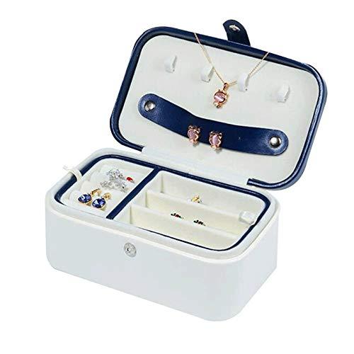 SHYPT Reisen Schmuck Organizer Box Portable Schmuck-Speicher-Fall-Zubehör-Halter-Beutel Bulit-in Spiegel Leder-Ohrring, Lippenstift, Halskette, Armband, Ringe