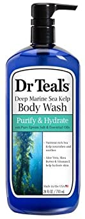 Dr. Teal's Deep Marine Sea Kelp Body Wash, Purify & Hydrate- 24 oz