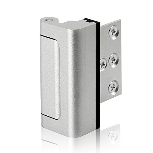 Lifechaser Home Security Door Reinforcement Lock Childproof Door Lock Defender, Add High Security to Home Prevent Unauthorized Entry, Aluminum Construction Finish (1Pack)
