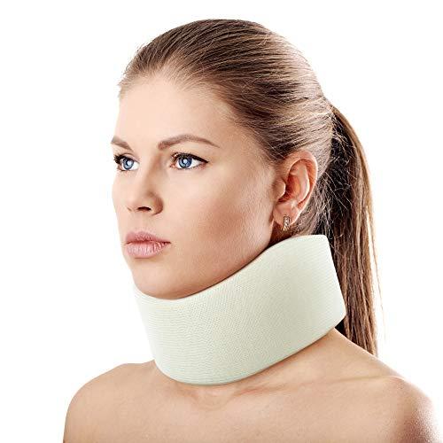 ORTONYX 3.5' Ergonomic Cervical Collar / Neck Support Brace / ACNS03 Light Beige Samll