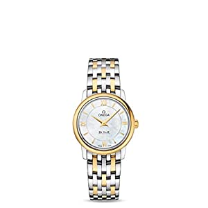 Omega De Ville Prestige White Mother of Pearl Dial Ladies Watch 424.20.27.60.05.001 image