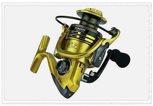Reel giratorio Pesca bobinas 13 + 1BB 5,5: 1 completa Pescado metal...