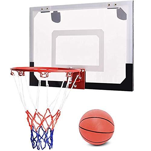 MHCYKJ Canasta Baloncesto Interior Casa Tablero De Aro Montado En La Pared Oficina Mini Junta Niños Deportes Bola Bomba para Jugar Al Aire Libre El