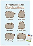 Trends International Pusheen - Marshmallow Wall Poster, 14.725' x 22.375', Premium Poster & Mount Bundle