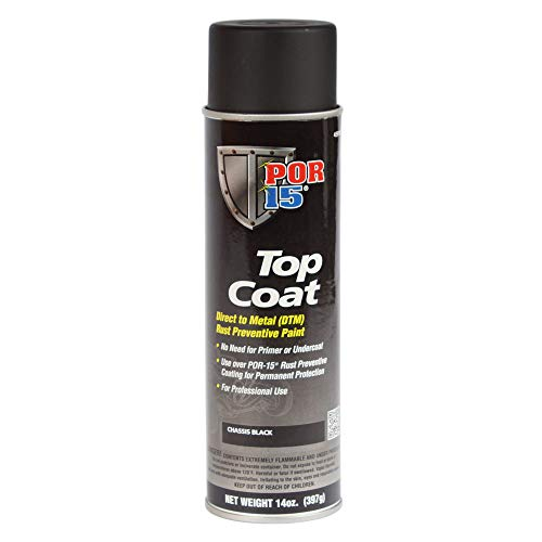 POR-15 45918 Top Coat Chassis Black Spray Paint 15. Fluid_Ounces