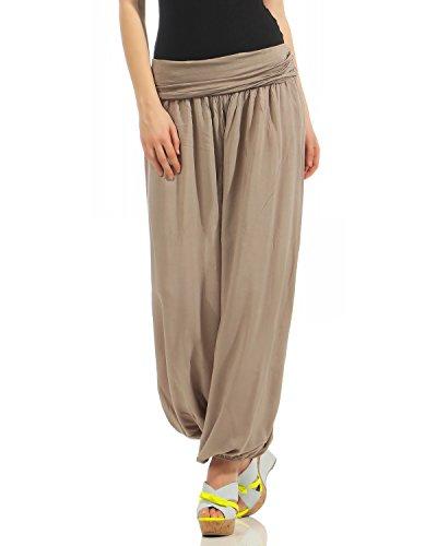 Zarmexx Damen Pumphose Harem-Stil Sommerhose Einheitsgröße (36-42)
