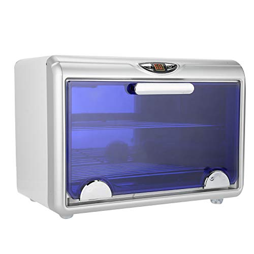 2 En 1 Esterilizador UV, Gabinete de Esterilizador UV Ozono Doble Capa, Caja Estetica Desinfección de Gran Capacidad, Equipo de Esterilización Alta para Toallas y Varias Herramientas Biberones