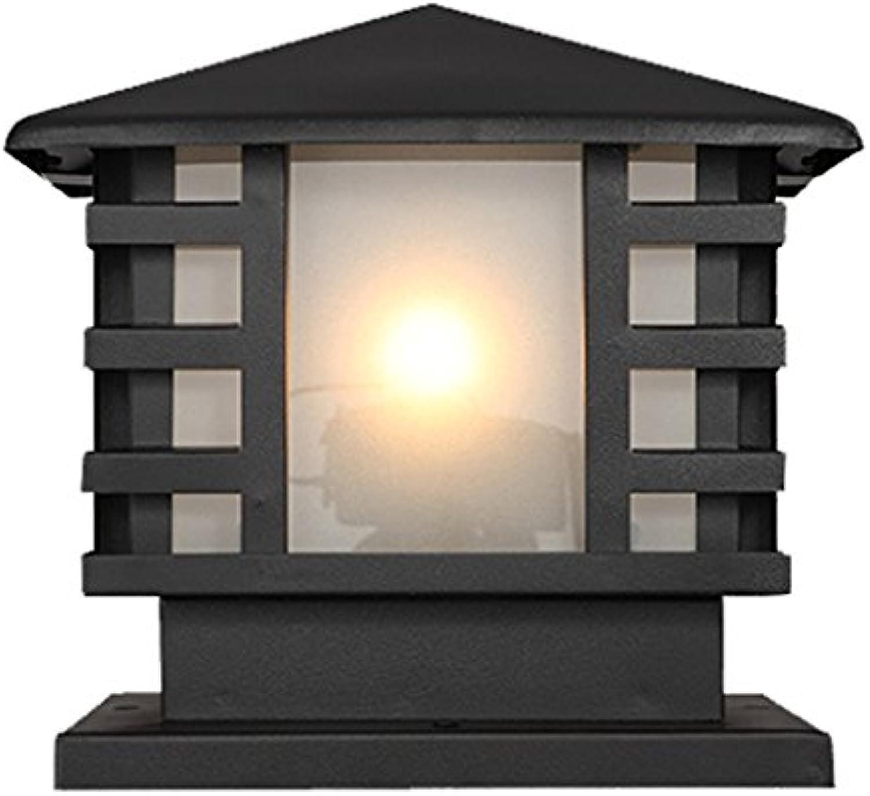 WSXXN Sule Lampe Villa Garten Lampe Spalte Scheinwerfer Europischen Retro Garten Lampe Landschaft Rasen Post Light (gre   High 27cm)
