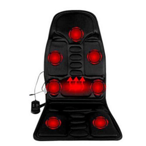Komfort Sitzheizung Elektrische Heizkissen, Auto Home Office Ganzkörpermassagekissen Wärme 7 Motoren Vibrieren Matratze Rücken Nacken Massagesessel Massage Entspannung Auto-Sitz 12V