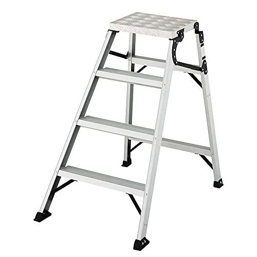 BEVANNJJ ZYY 4 Step Ladder Doppia a Due Lati Lightweight Step Scheda Scheda Pieghevole Design Pieghevole Multifunzionale