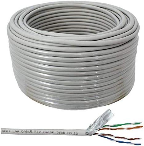 Cable de red Cat.5e 50m ; S/FTP PIMF ; cable de instalación Cat5 ethernet