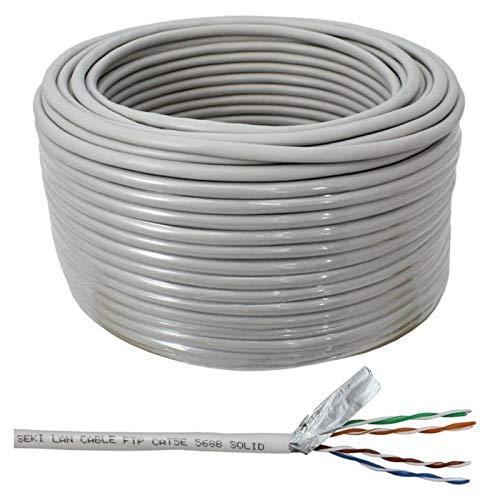 Netzwerkkabel Cat.5e 50m ; S/FTP PIMF ; Cat5 LAN Ethernet Kabel Verlegekabel
