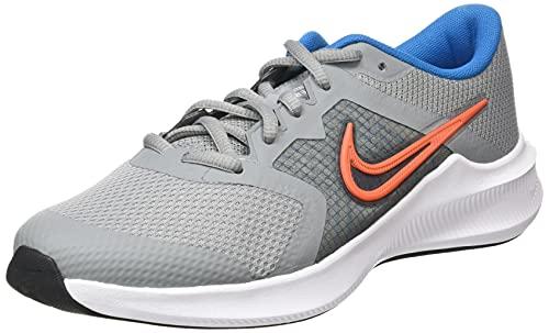 Nike Downshifter 11 Straßen-Laufschuh, Particle Grey/Orange-Imperial Blue-White, 36 EU