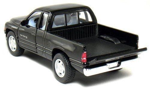 New 1:44 KINSMART DISPLAY - BLACK COLOR DODGE RAM PICKUP TRUCK Diecast Model Car By KINSMART