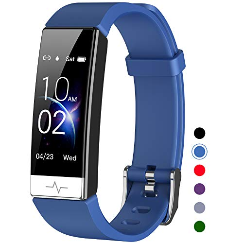 Mgaolo Fitness Tracker with Blood Oxygen SpO2 Blood Pressure Heart Rate Sleep Monitor for Men Women,IP68 Waterproof Activity Tracker with HRV Pedometer Health Smart Watch for Android iPhone (Blue)