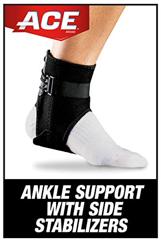 ACE-207266 Brand Ankle Brace with Side Stabilizers-Black 1 Count (Pack of 1)