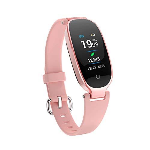 ARAYACY Gesundheit wasserdichte Bluetooth Dame Intelligente Gesundheit Pedometer Herzfrequenzuhr,H