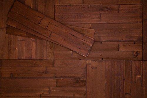 DIY Wandpaneele selbstklebend aus Echtholz von Mywoodwall - Schöne 3D Wandverkleidung - Java (braun), 100% FSC-zertifiziert und Umweltfreundlich, 1 Paket a 1,725m² - SONDERVERKAUF !!!