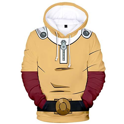 One Punch Man Saitama Japanese Superhero Men's Hoodies and Women's Sweatshirt XS Yellow